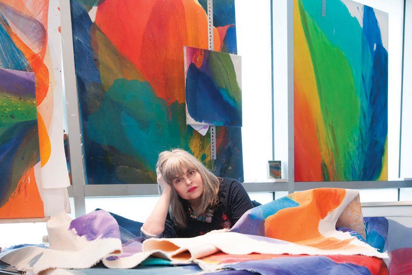 Barbara Januszkiewicz was trained by the last surviving member of the Washington Color School. © Michelle Couraud