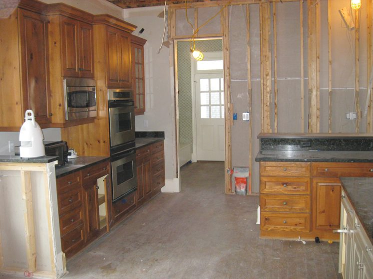 BEFORE: The former, out-of-date kitchen.