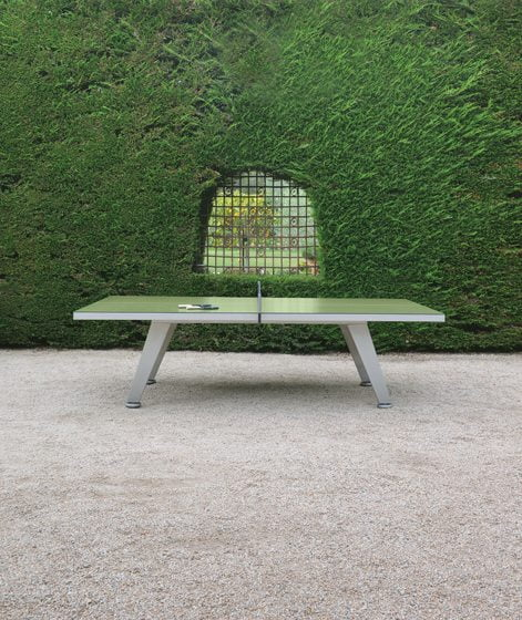 JANUS et Cie's outdoor Ping Pong Table.