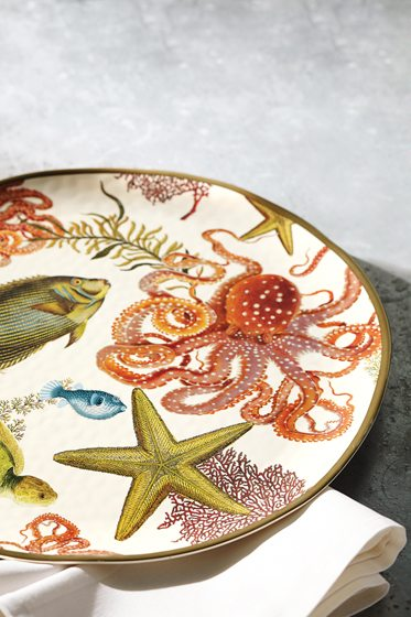 The Playa Sea Critter platter from Pottery Barn.