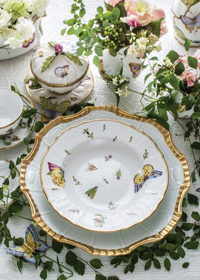 It takes artists days to create the delicate images that adorn Weatherley's china pieces.
