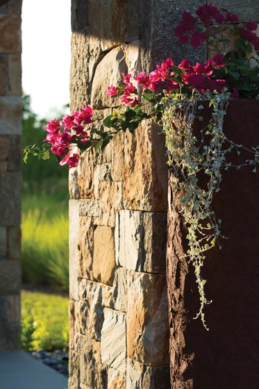 Walnut Hill chiseled every stone to achieve a rustic, hand-stacked look.