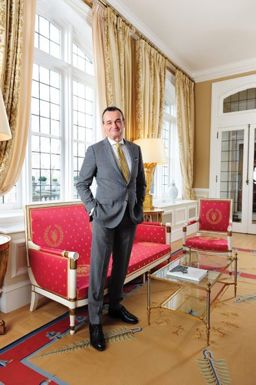 French Ambassador Gérard Araud poses in the renovated Empire Salon. Portrait by Michael Ventura