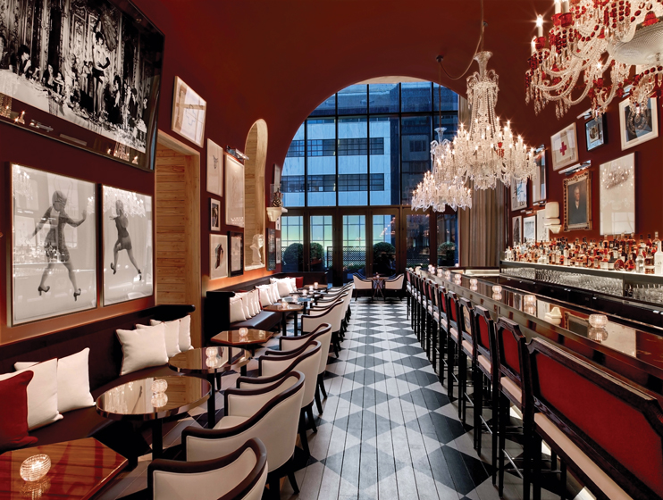 The bar in the Baccarat Hotel & Residences New York.