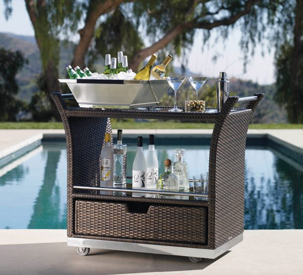 The Ultimate Serving Cart from Frontgate.