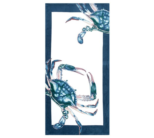 Pottery Barn's Crab Printed Beach Towel.