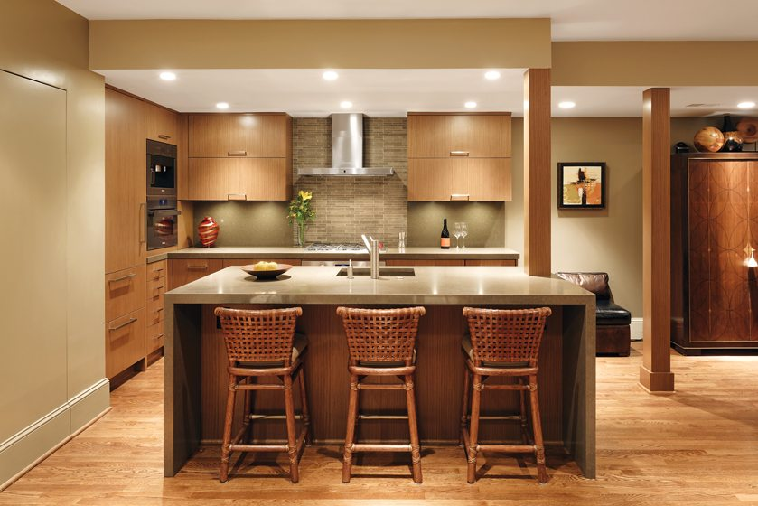 Sarah Turner created a sleek kitchen to complement the design of her client's Logan Circle condo.