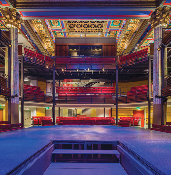 The Chesapeake Shakespeare Company Theatre in Baltimore's historic Mercantile Trust and Deposit Co. Building.
