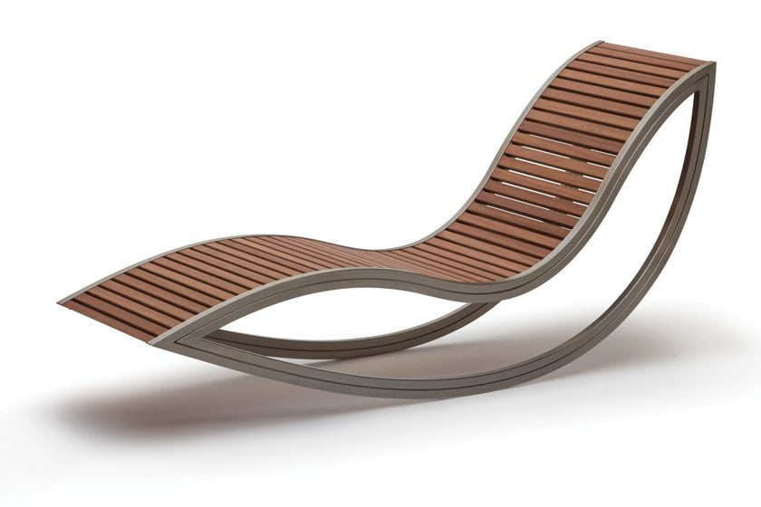 The Bamboo And Stainless Steel Dondola Chair