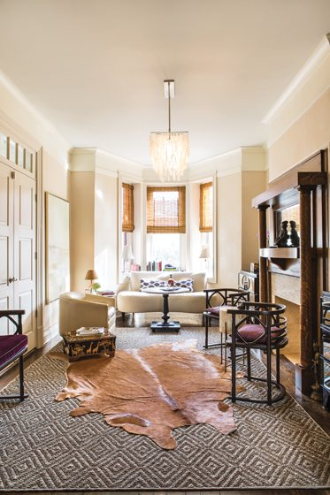 The designer's former Northwest DC row house exemplified her eclectic aesthetic.