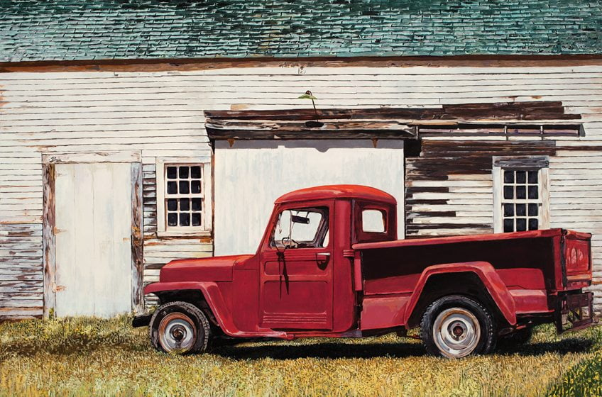 Rowan depicts a rural relic in the form of a pickup truck.