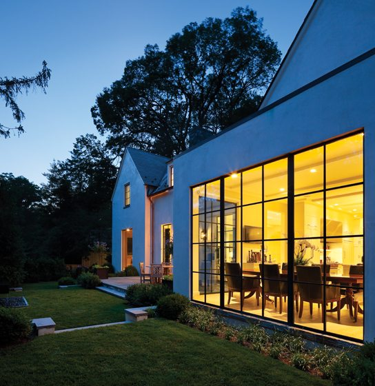 picturesque home design magazine. A wall of steel windows in the breakfast bay reveals a picturesque  landscape by Lila Fendrick Perfect Harmony Home Design Magazine