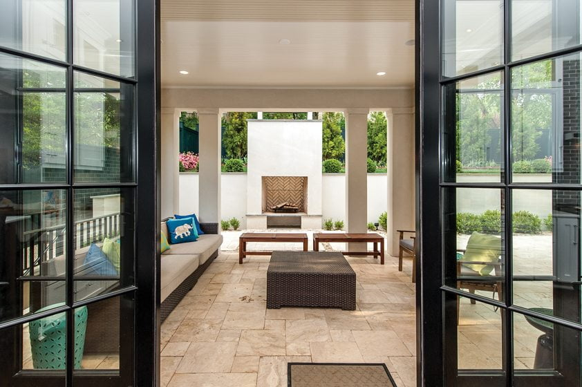 Home By Design Magazine Excellence in custom building home design magazine a transitional home by finecraft contractors inc features a covered loggia and terrace sisterspd