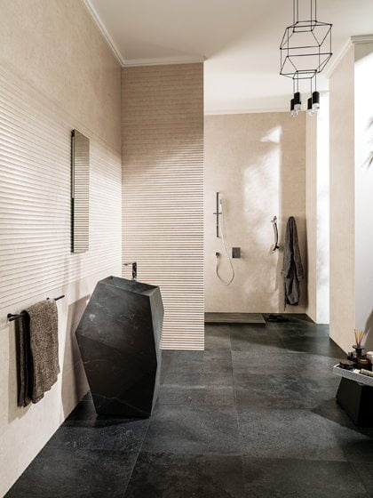 Faces collection of ceramic wall tiles by Ramón Esteve for L'Antic Colonial.