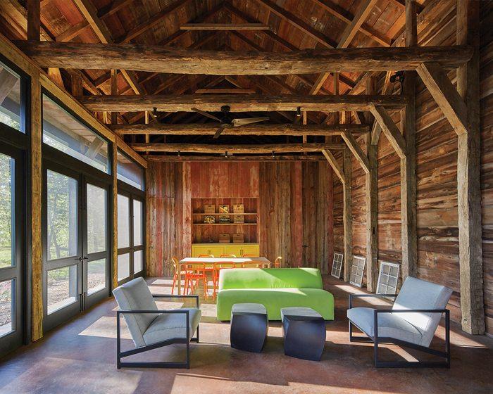 JURORS' CITATION:  Bonstra | Haresign Architects, The Barn at Hazel River Cabin, Woodville, Virginia. © Anice Hoachlander.
