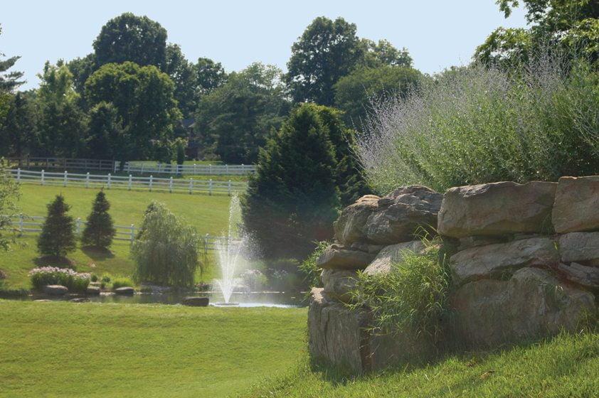 A fountain in a Potomac landscape by McHale Landscape Design. © John Spaulding