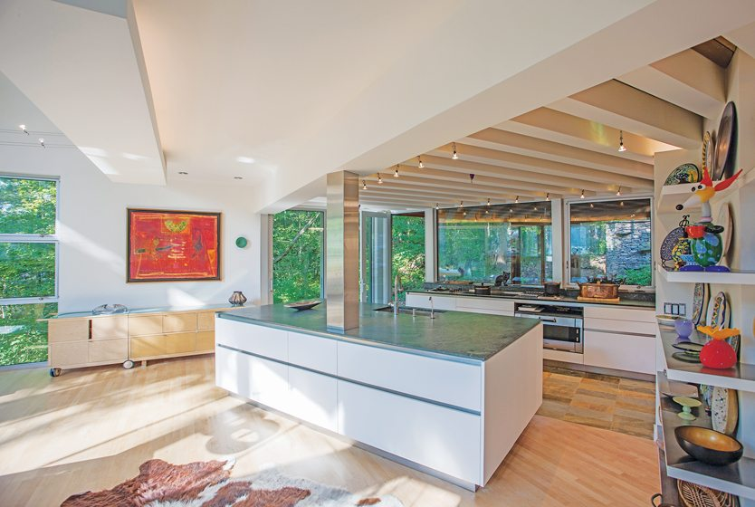 Price designed the kitchen in collaboration with Julia Walter of Boffi  Georgetown.