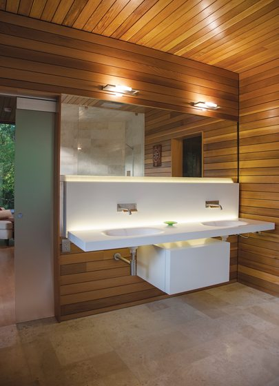 A Boffi vanity occupies the master bath.