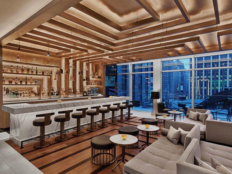 Renaissance New York Midtown Hotel's lobby bar.
