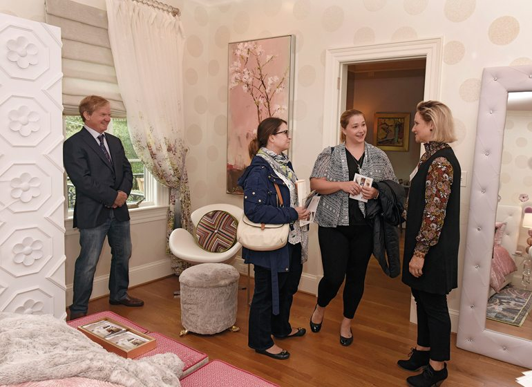 Guests with Kim Wilcox Joshi (right).