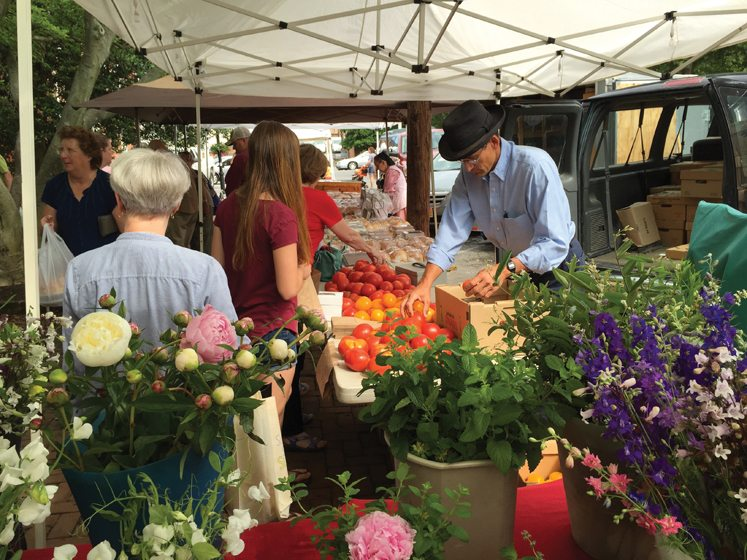 Chestertown Farmers' & Artisans' Market is a feast for the eyes. © Nancy McTear