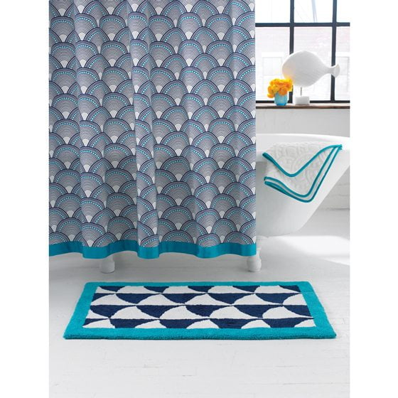 Jonathan Adler's Fish Scales Shower Curtain.