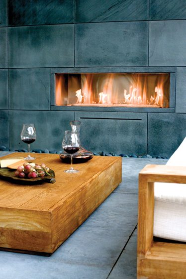 Spark Modern Fires' Fire Ribbon, pictured in a project by Bonick Landscaping.