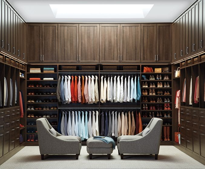 A custom closet from The Container Store.