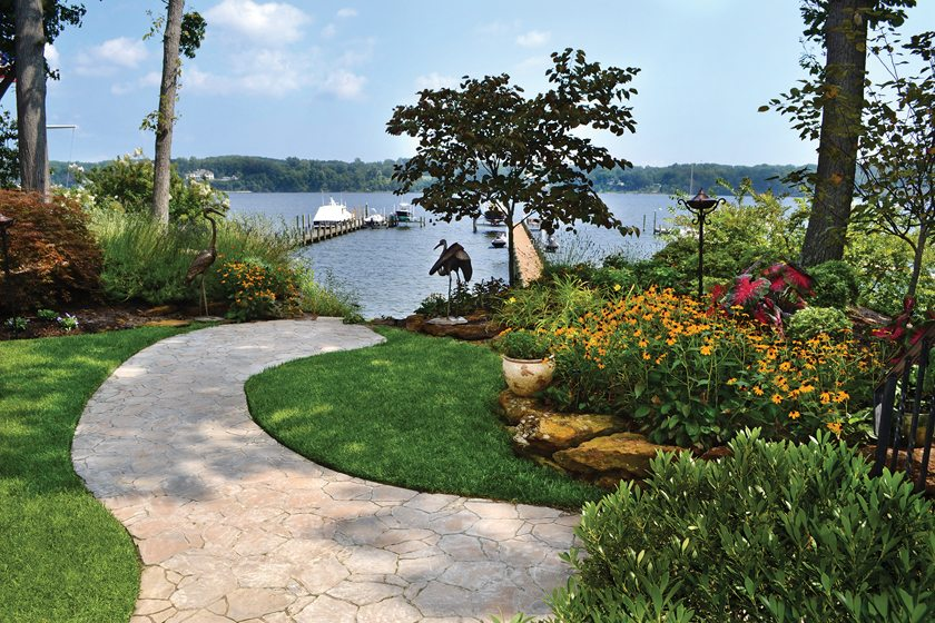 Ask the pros landscape home design magazine for Waterfront landscape design