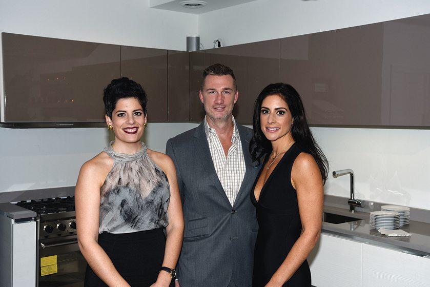 Showroom owners Niki Serras, Brian Gamache and Alisha Serras.