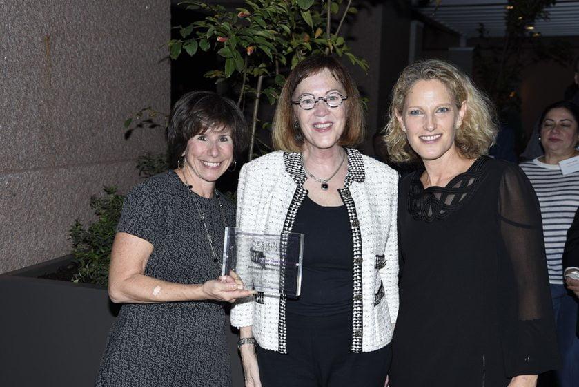 Julie Sanders, Hall of Fame Interior Designer awardee Mary Douglas Drysdale, Sharon Jaffe Dan.
