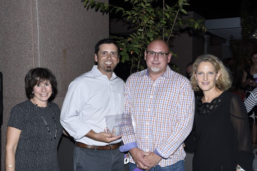 Julie Sanders, Tony Ferrante and Walter Tilford of Electronic Home Environments, Sharon Jaffe Dan.