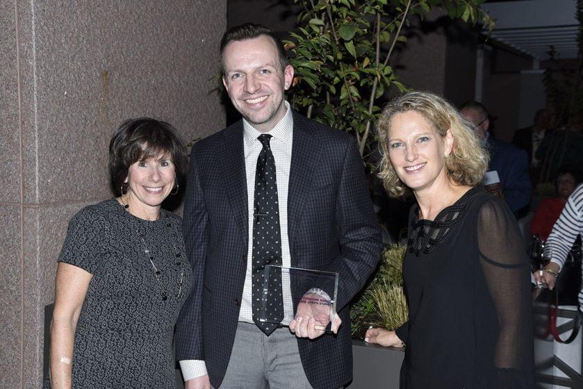 Julie Sanders, Matthew Quinn of Favorite Local Furniture Maker David Iatesta, Sharon Jaffe Dan.