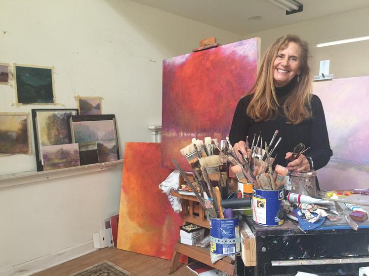 Loriann Signori plies her craft in her Silver Spring studio.