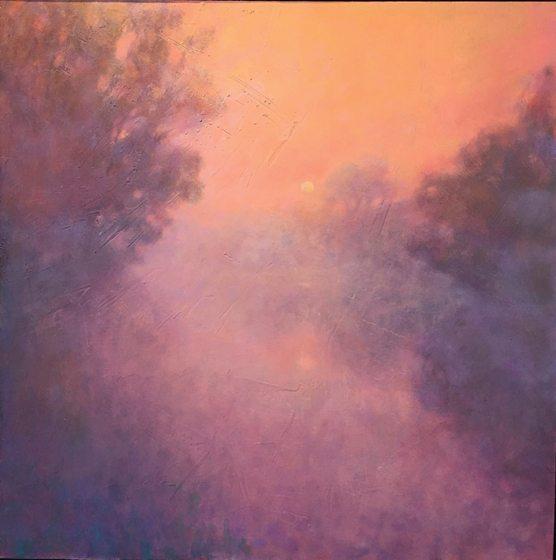 """Signori's """"Melon-Colored Fog on the Potomac."""""""