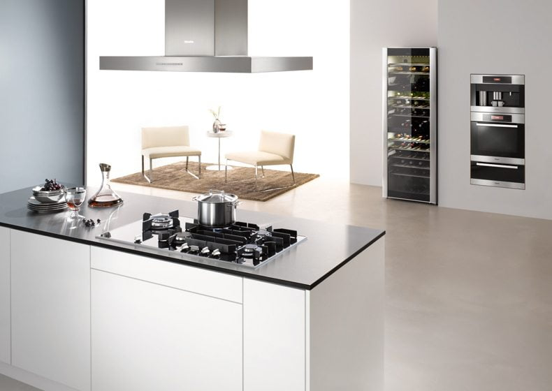 5. Miele's Gas on Glass cooktop.