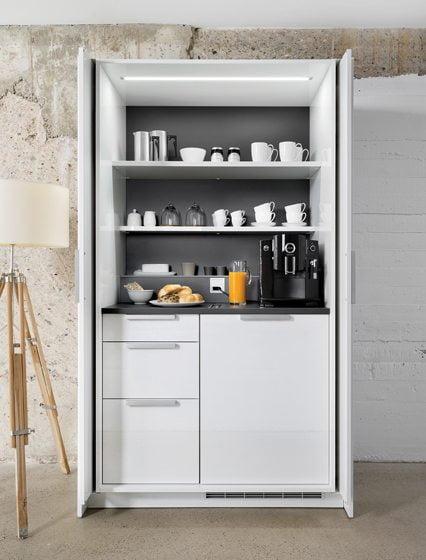 7. Poggenpohl's +STAGE storage unit (breakfast unit pictured).