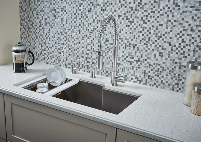 9. Rohl's Single Bowl Stainless Steel Kitchen Sink.