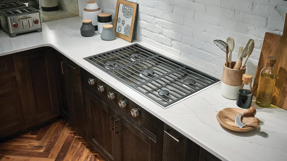 11. Wolf's contemporary gas cooktop.