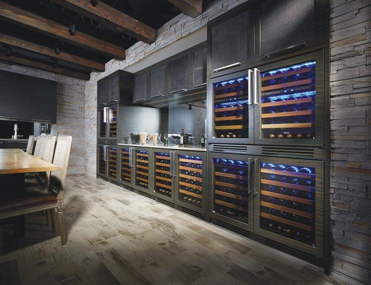 6. True's under-counter 24-inch Wine Cabinet.