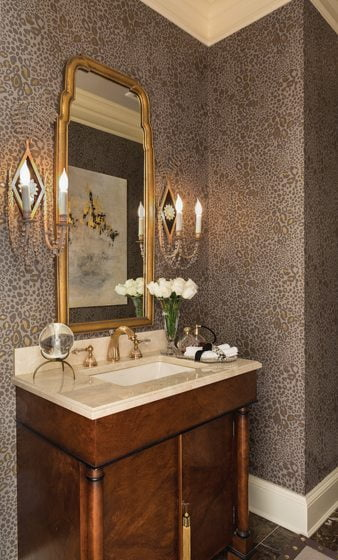 5. Powder Room, by Lena Kroupnik, NCIDQ, Lena Kroupnik Interiors, LLC.