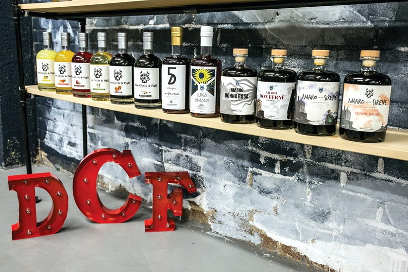 Don Ciccio & Figli's spirits collection.