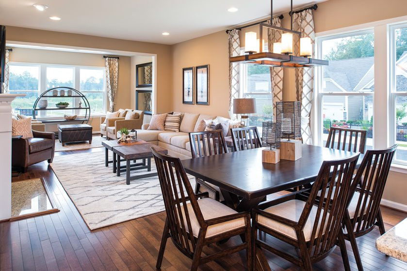 Design and Architecture, Attached Home, including Townhouses, Two-over-Two's, Back-to-Back Townhouses, Duplexes, Fee Simple and Condo-Ownership, $300,000 - $350,000: Bluemont at Celebrate, Fredericksburg, Virginia; Pulte Homes. © Maxine Schnitzer.