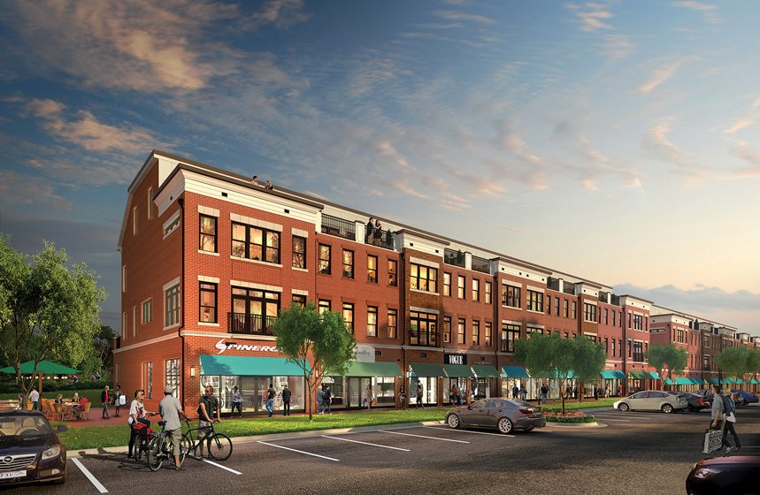 Design and Architecture, Multi-Family Mixed-Use (tie):  Crescent Place, Leesburg, Virginia; Knutson Companies, Lessard Design. Rendering: ArchiBIM.