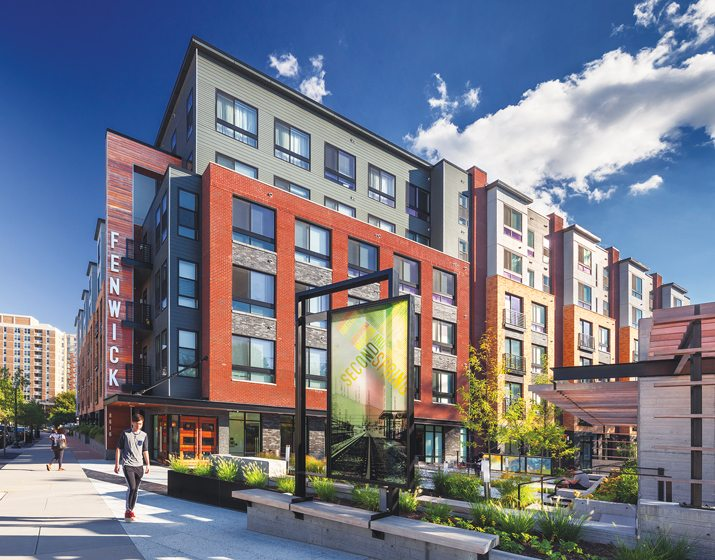 Green Building: Fenwick, Silver Spring, Maryland; Insight Property Group, SK+I Architecture, Hord Coplan Macht. © Max Zhang, Iris22 Productions.
