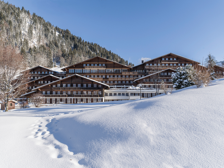 Huus Hotel in the Swiss Alps.