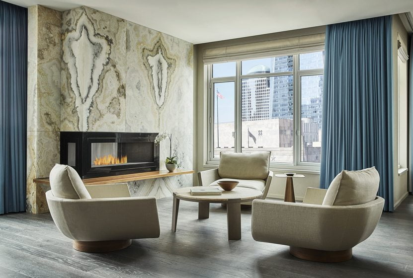 The Royal Suite in the new Four Seasons Hotel New York Downtown.