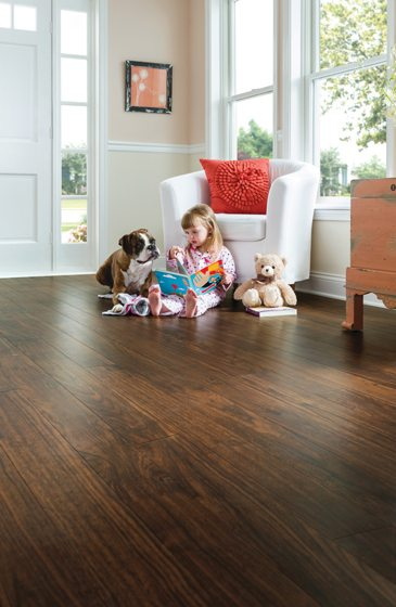 Armstrong's Vivero vinyl floor-tile collection.