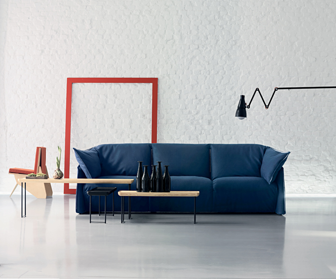 The 380 La Mise sofa, designed by Luca Nichetto for Cassina.