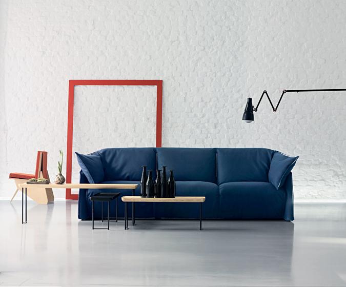 The 380 La Mise sofa, designed by Luca Nichetto for Cassina.